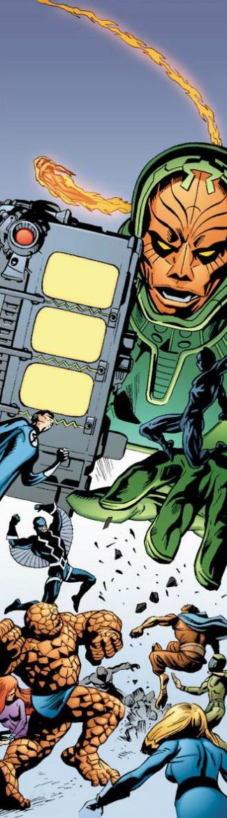 Fantastic Four And Inhumans Vs Psycho Man By Doug Braithwaite Marvel Villains Marvel Superheroes Mister Fantastic