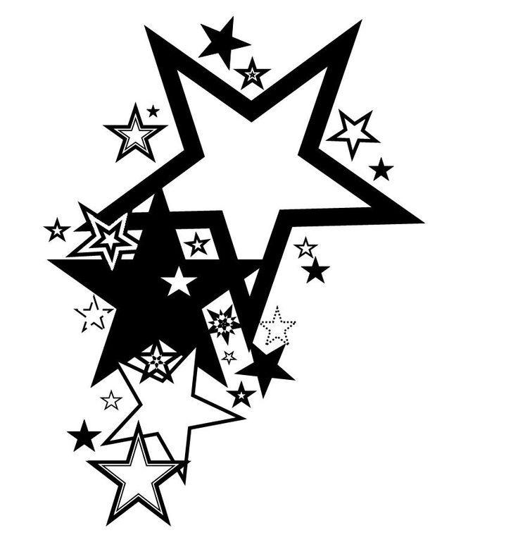 Черно-белые картинки звезды