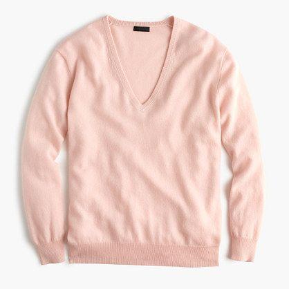 J.Crew - Collection cashmere boyfriend V-neck sweater
