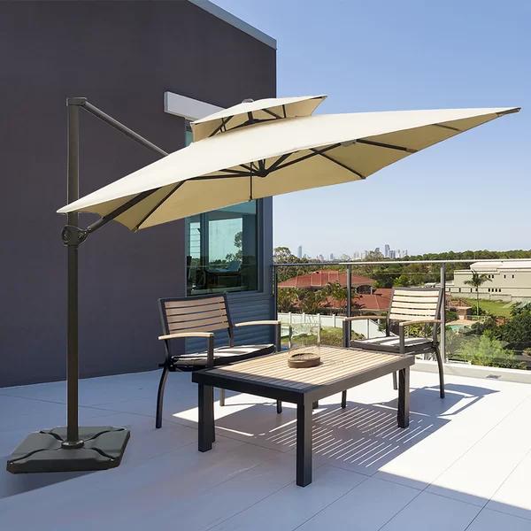 12 rectangular cantilever umbrella