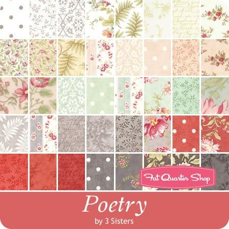 Poetry Prints Half Yard Bundle 3 Sisters for Moda Fabrics - Poetry ... : moda quilt fabric - Adamdwight.com