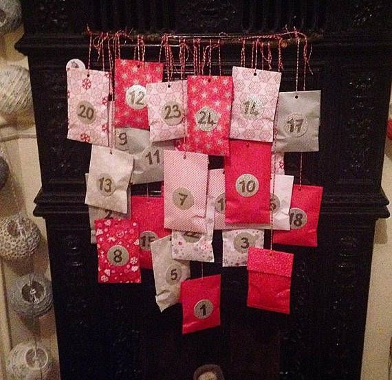 Christmas is coming here is an advent calendar to do it yourself christmas is coming here is an advent calendar to do it yourself the kit includes paper patterns 24 bags red white and silver 24 silver stud solutioingenieria Images