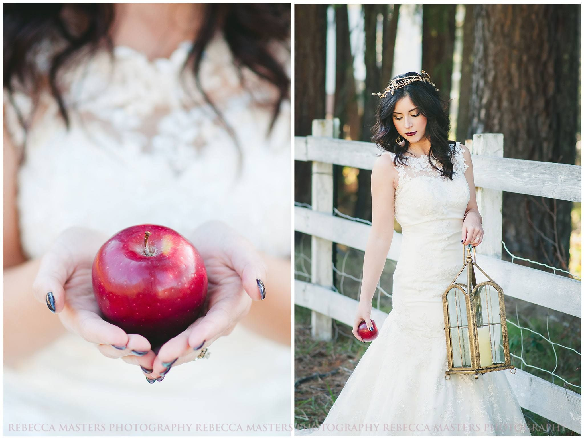 SnowWhite themed #Wedding #photoshoot by Rebecca Masters Photography ...