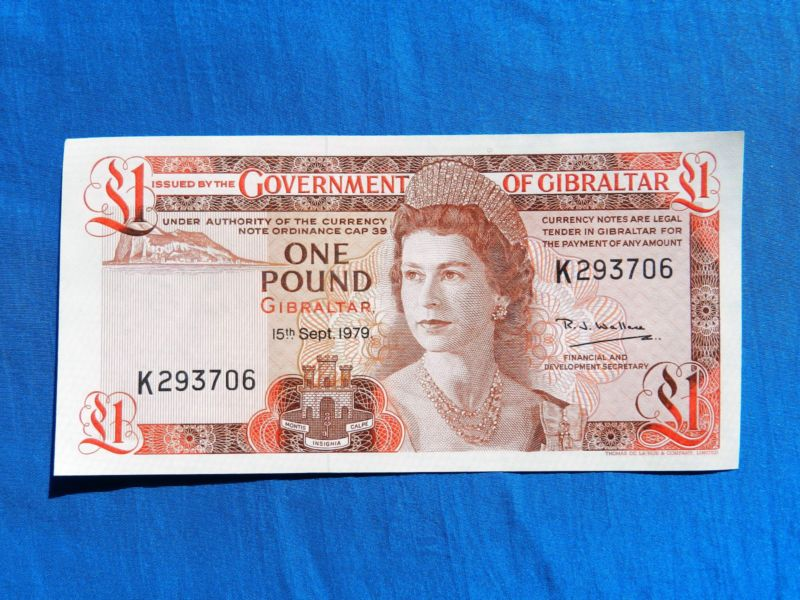 Banknote: 1979 Govt Of Gibraltar 1 Pound Banknote P-20B Unc