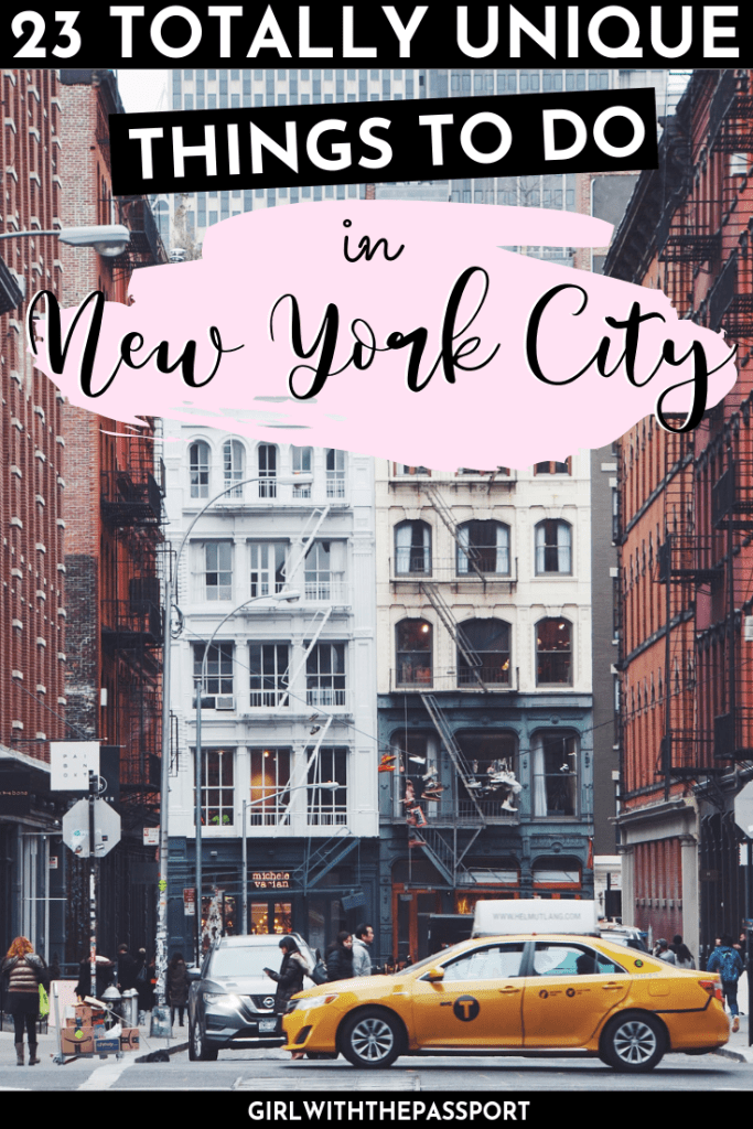 Unusual things to do in NYC