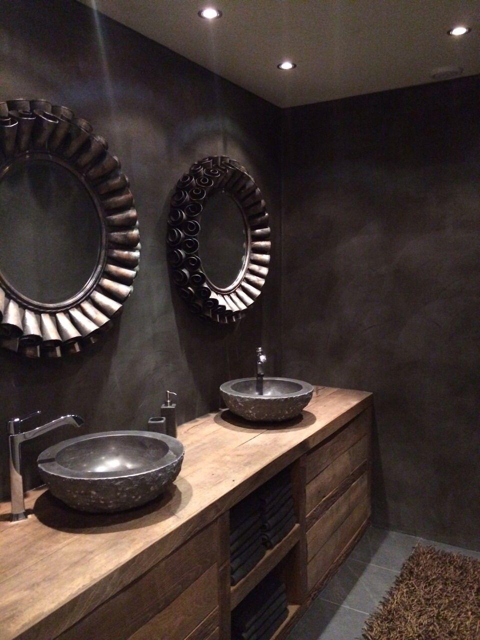 badkamermeubel oud eikenhout badkamer pinterest bathroom