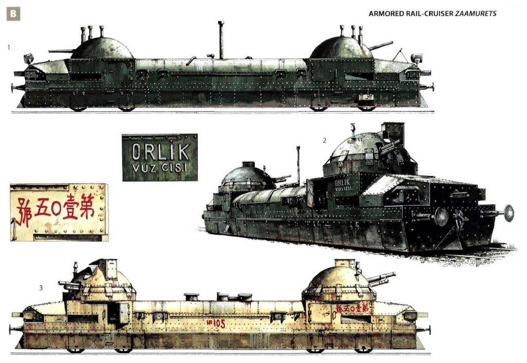 In World War I One Of The Armored Trains Used By The Russian Army