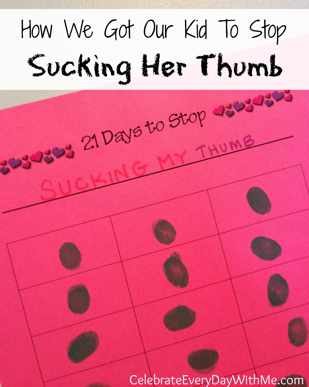 sucking stop thumb