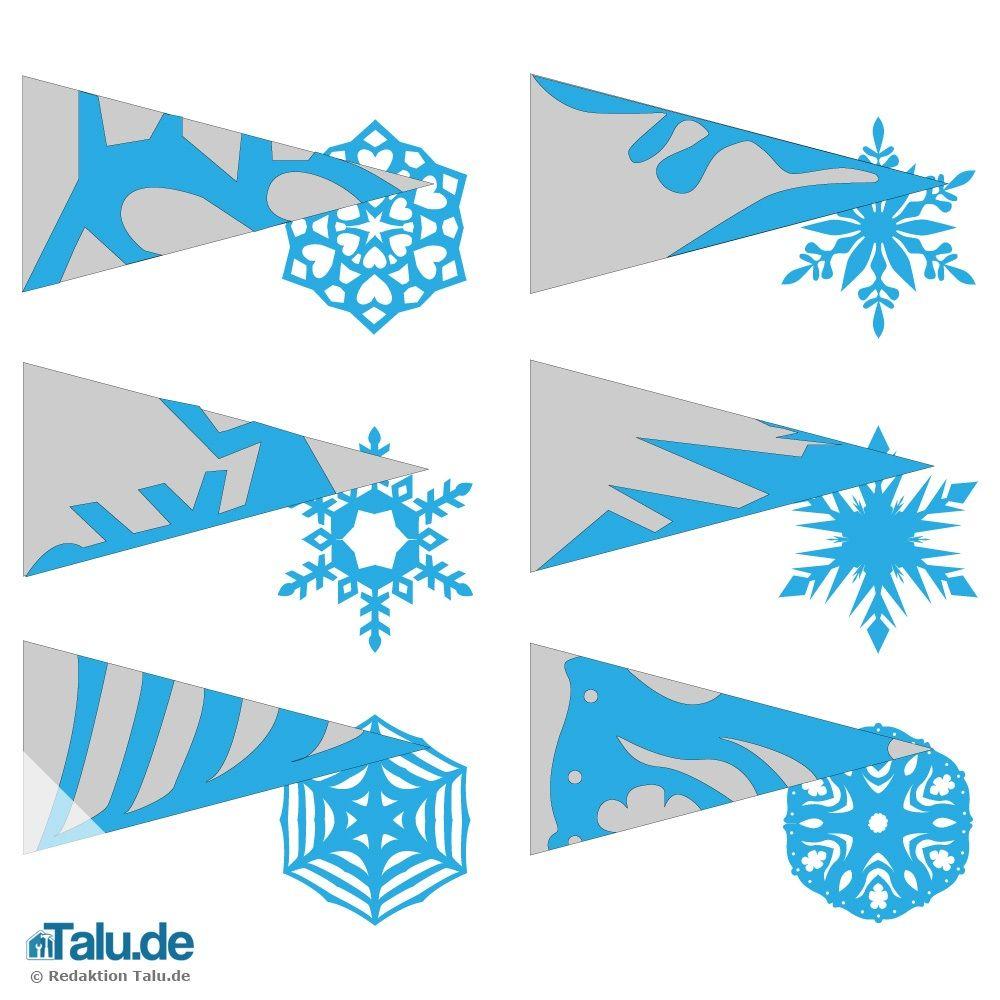 Schneeflocken aus papier basteln vorlagen weihnachten for Fensterdeko weihnachten basteln papier