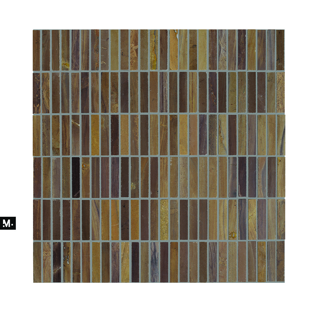 Mudtile Floor Or Wall Mosaic Tile Pattern Name Woodchip Color