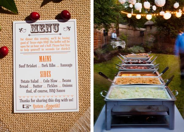 Fun Reception Menu And Buffet