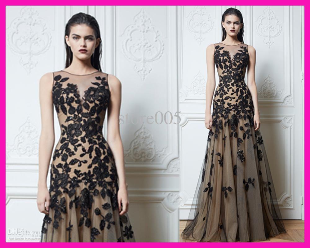 Wholesale Evening Dresses - Buy Zuhair Murad Sleeveless Lace Mermaid ...