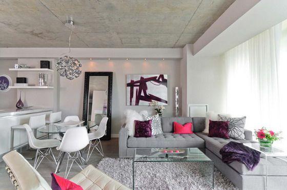 Living Room Design With Grey Sofa. Soft Grey Corner Sofa in Modern Living room  Home Decor Ideas 25047