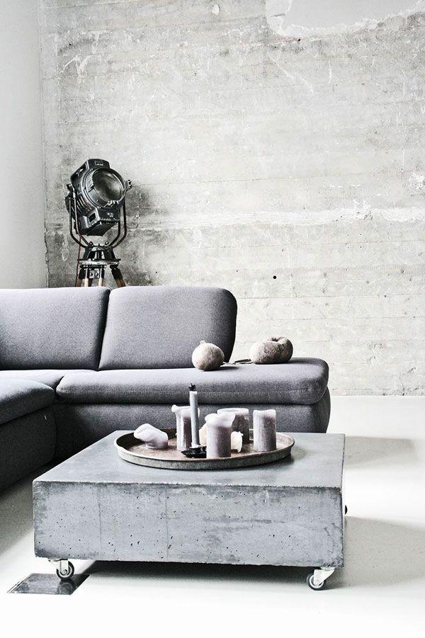 Beton in huis Beautiful Design Pinterest Cemento y Gris - paredes de cemento