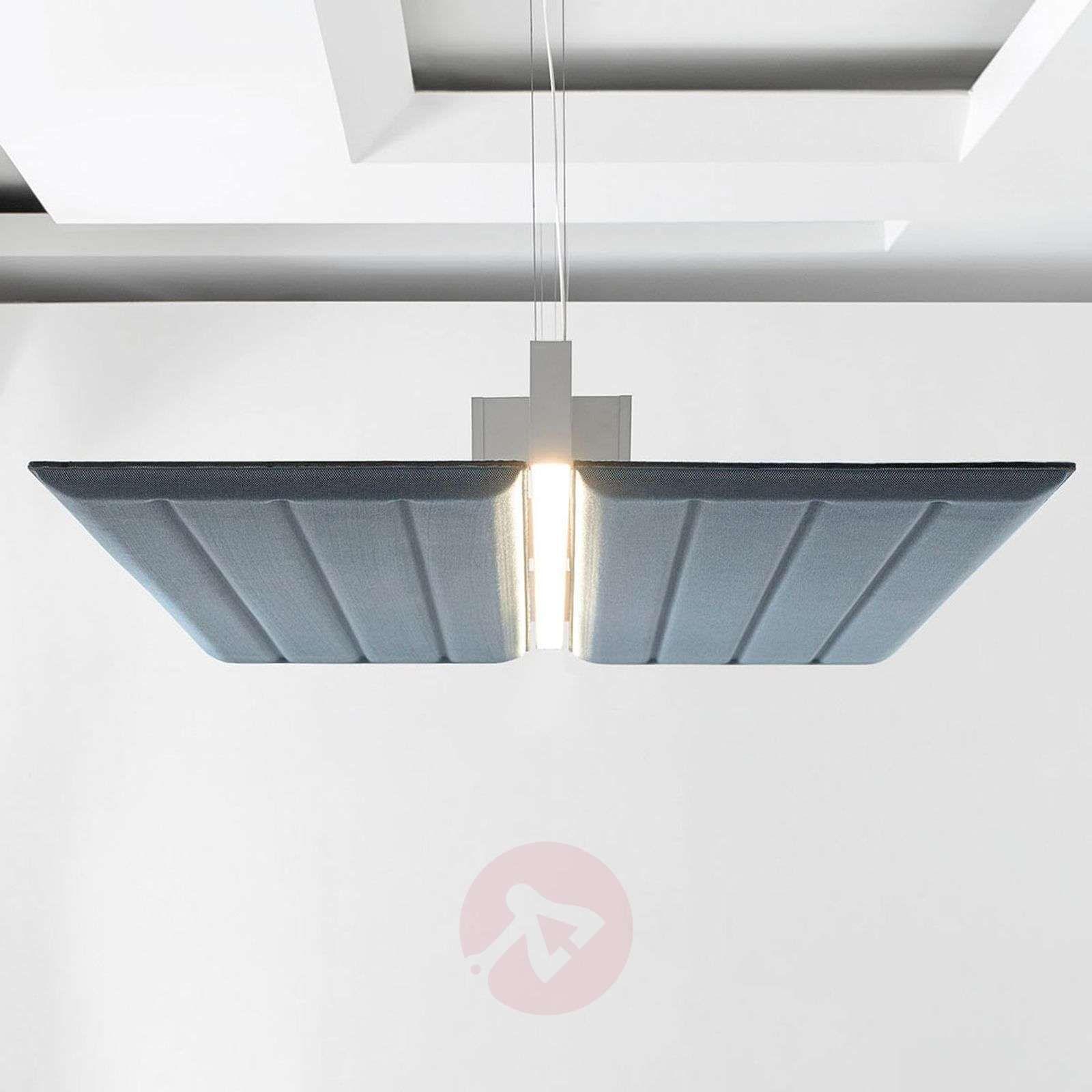 Luceplan Diade Lampa Wisząca Pozioma 120cm Błękit Lampy