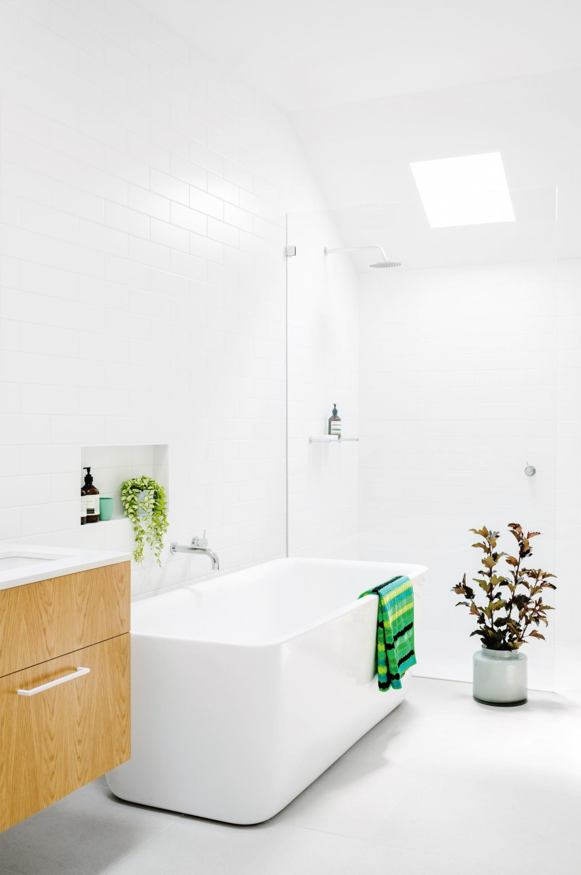 white-bathroom-bath-skylight-sept13 | Bathroom | Pinterest ...