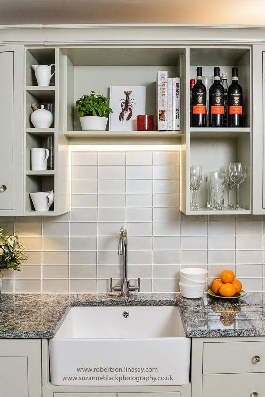 Kitchen design, bespoke shelving. Sally Homan Robertson Lindsay ...