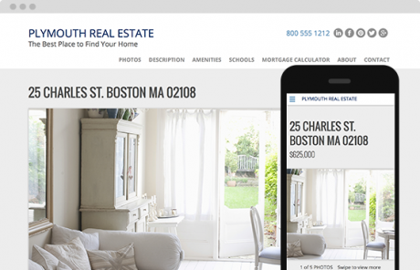 placester real estate website theme plymouth biz about websites