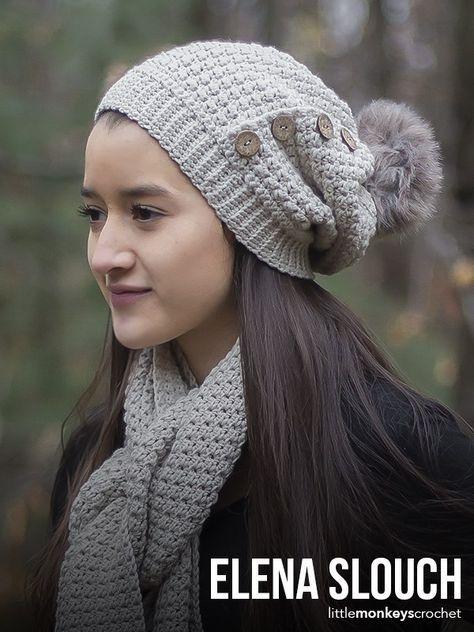 b25607fd9b5 Elena Slouch Hat Crochet Pattern