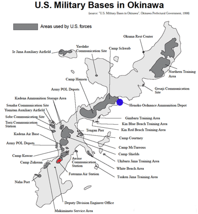 Bases In Okinawa Japan Map.Okinawa Japan Marine Base Tokyo S Forced Military Construction Of