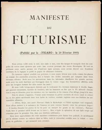 Futurist Manifesto (Print) Manifeste du Futurisme Filippo Tommaso Marinetti,  1909 | Manifesto, Futuristic, Ex libris