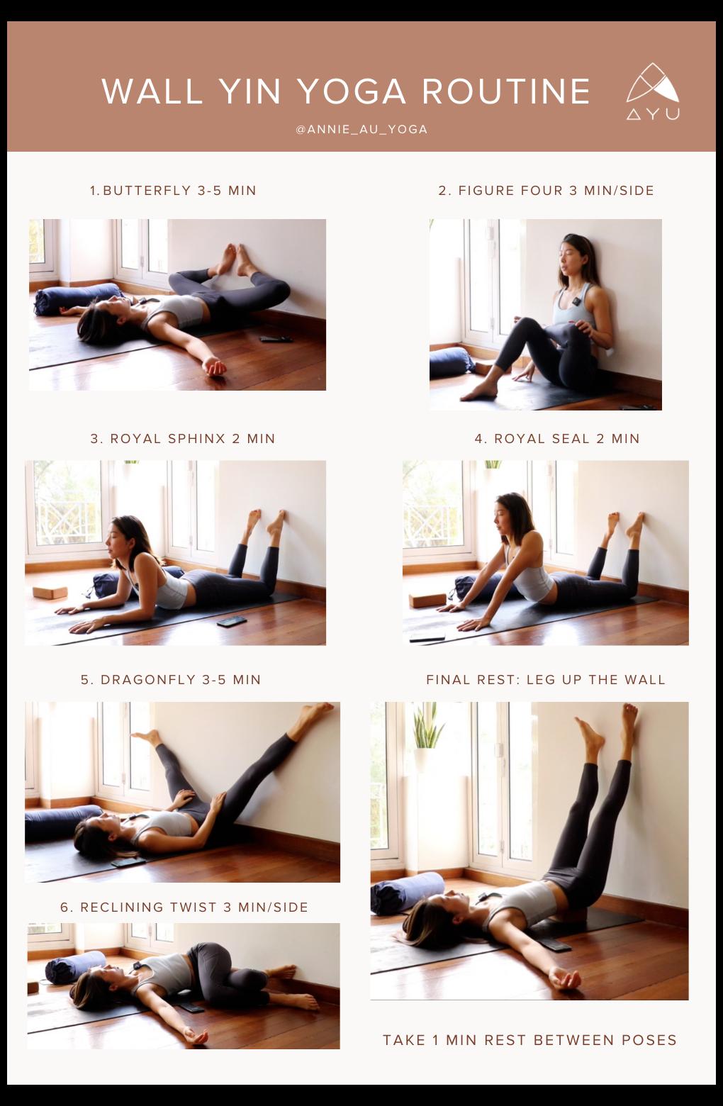 Free Wall Yin Yoga For Flexibility And Relaxation Yin Yoga Hamstrings Yinyogahamstrings Includes A Downl Yin Yoga Sequence Wall Yoga Restorative Yoga Poses