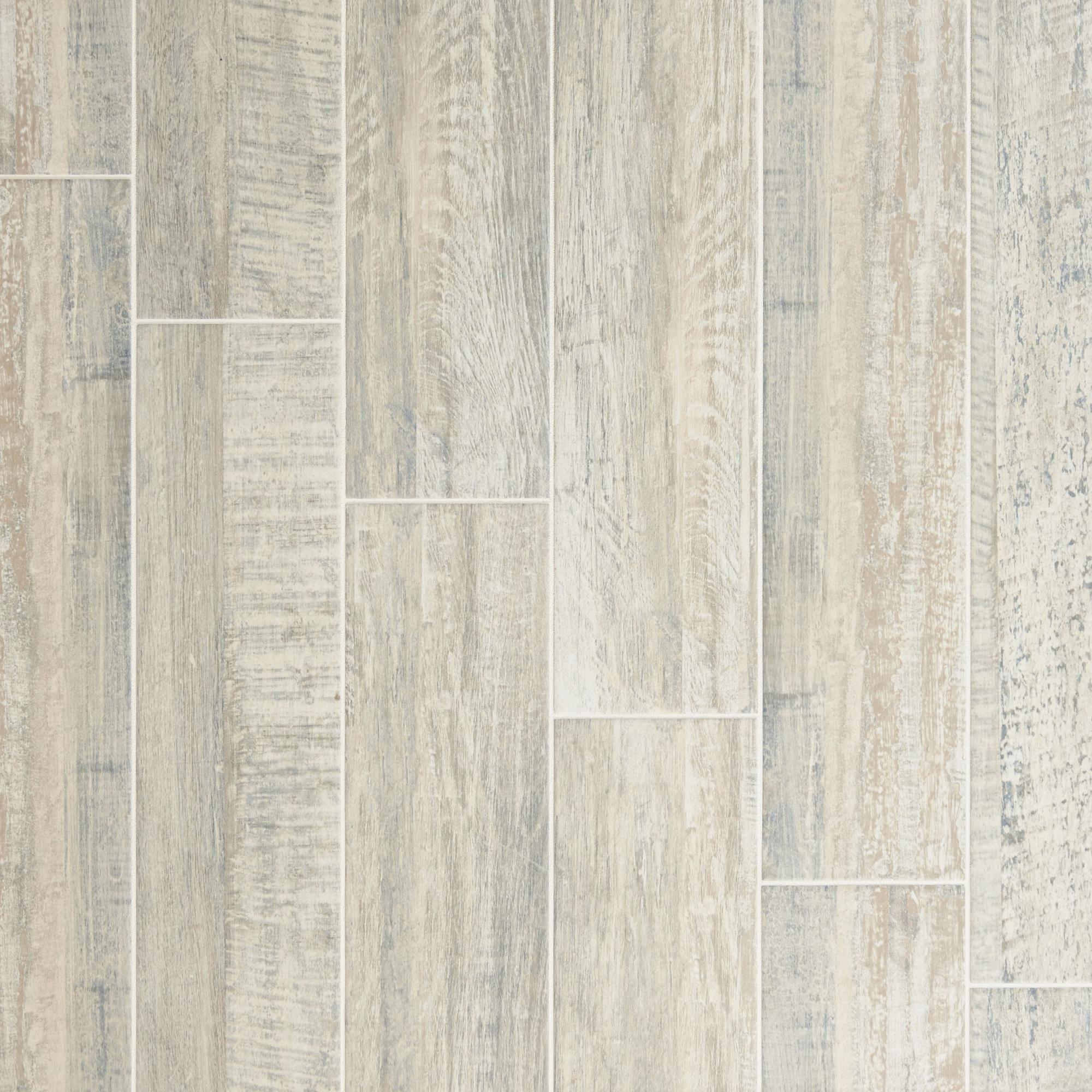 Pier White Wood Plank Porcelain Tile  6 X 36
