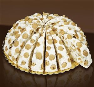 Quaranta nougat slices with amaretti biscuits available from www.sweetmomentsuk.co.uk