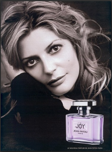 """WOOED MY HIGH SCHOOL BOYFRIEND INTO DRIVING ALL THE WAY TO PITTSBURGH TO BUY ME MY FIRST TINY FLACON OF """"JOY"""". $100 - AT THE TIME, THE """"COSTLIEST PERFUME IN THE WORLD"""". HE HAD NO CLUE WHAT THIS MIND BATH OF ROSES WAS, BUT I DID. DO YOU?--SLA  Chiara Mastroianni, daughter of Marcello Mastroianni and Catherine Deneuve, for JOY by Jean Patou"""