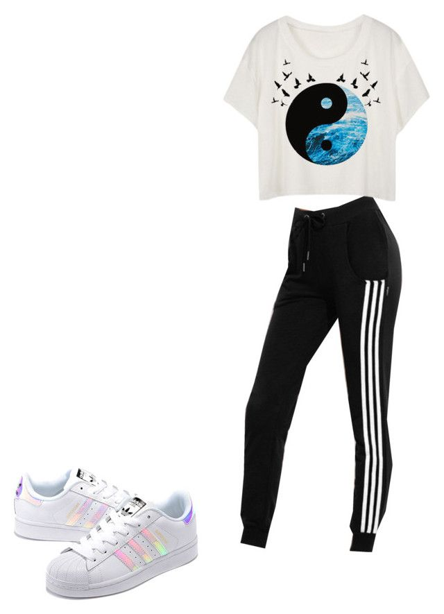 """""""Untitled #389"""" by brain-cosand ❤ liked on Polyvore featuring adidas Originals"""