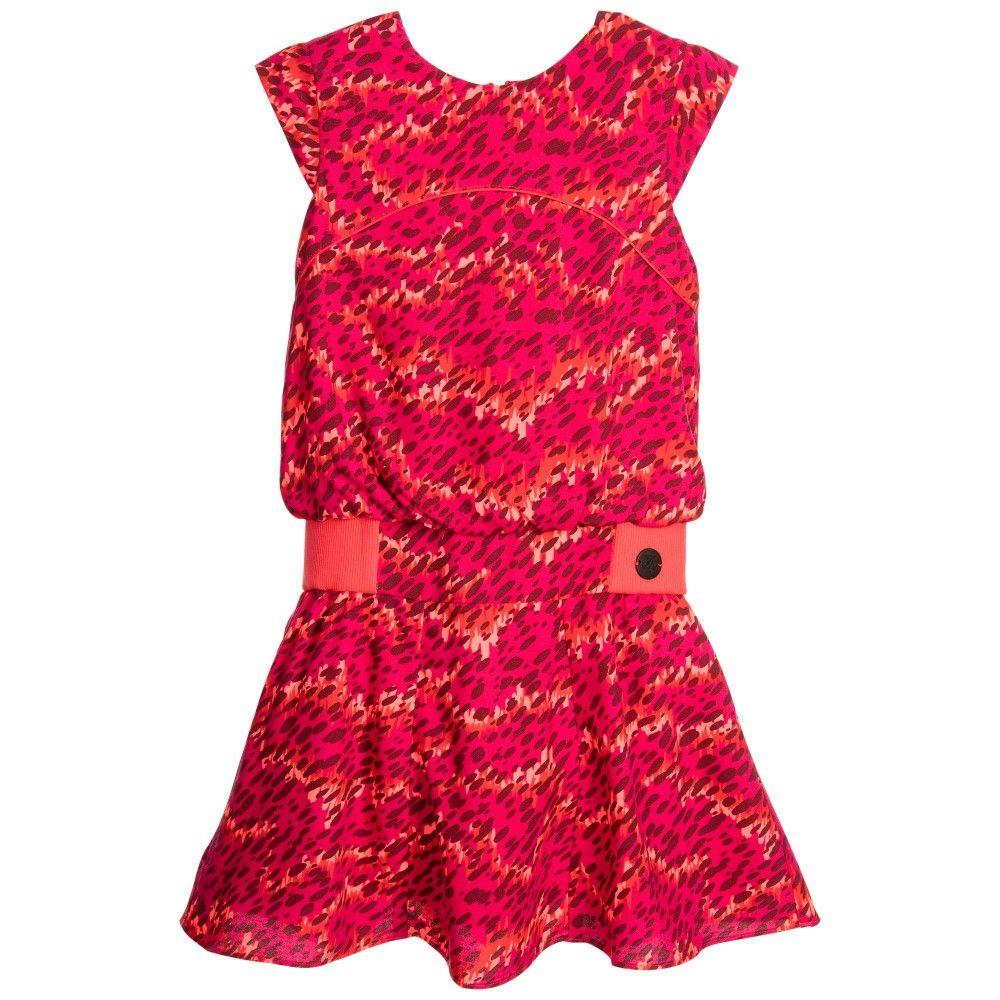 kenzo orange dress