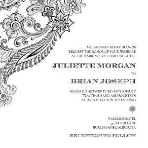 Corner Flourish Wedding Invitations With Images Wedding