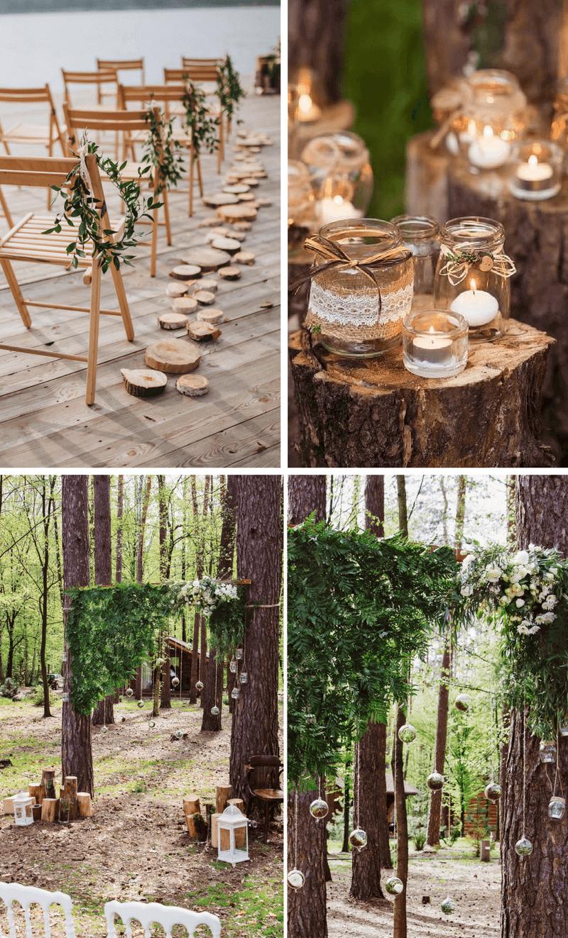 35 Ideen Fur Eine Rustikale Hochzeitsdeko Aus Holz Hochzeit