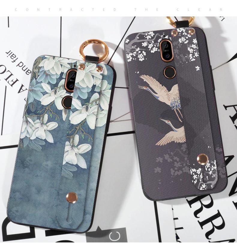 3d الزهور اليد حزام حالة لنوكيا 8 سيروكو X5 X6 X7 X71 9 6 2018 الفاخرة سيليكون عودة غطاء لعلامة نوكيا 7 5 Samsung Phone Cases Samsung Cases Iphone Case Covers