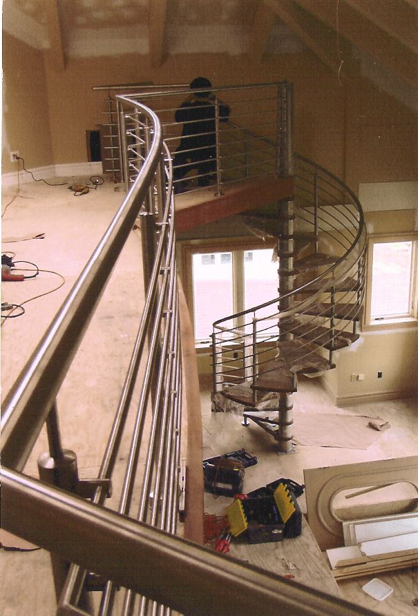 Best Spiral Staircase Open Riser Stairs In Ct And Nyc 400 x 300