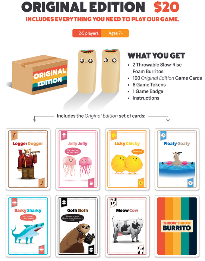 Throw Throw Burrito By Exploding Kittens Kickstarter In 2020 Exploding Kittens Card Games Burritos