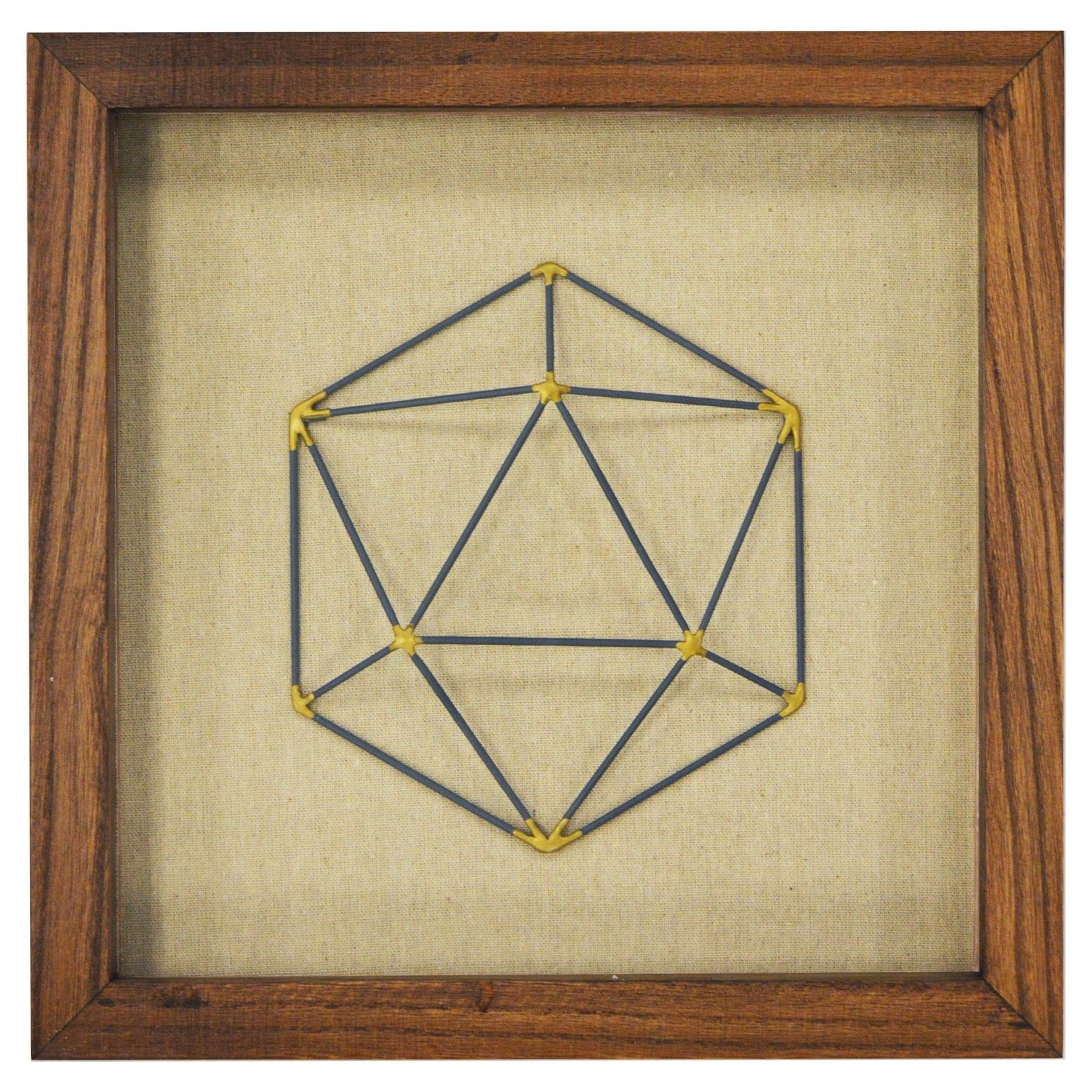 Framed Faceted Wire Hexagon 12   Guest bedroom decor, Office guest ...