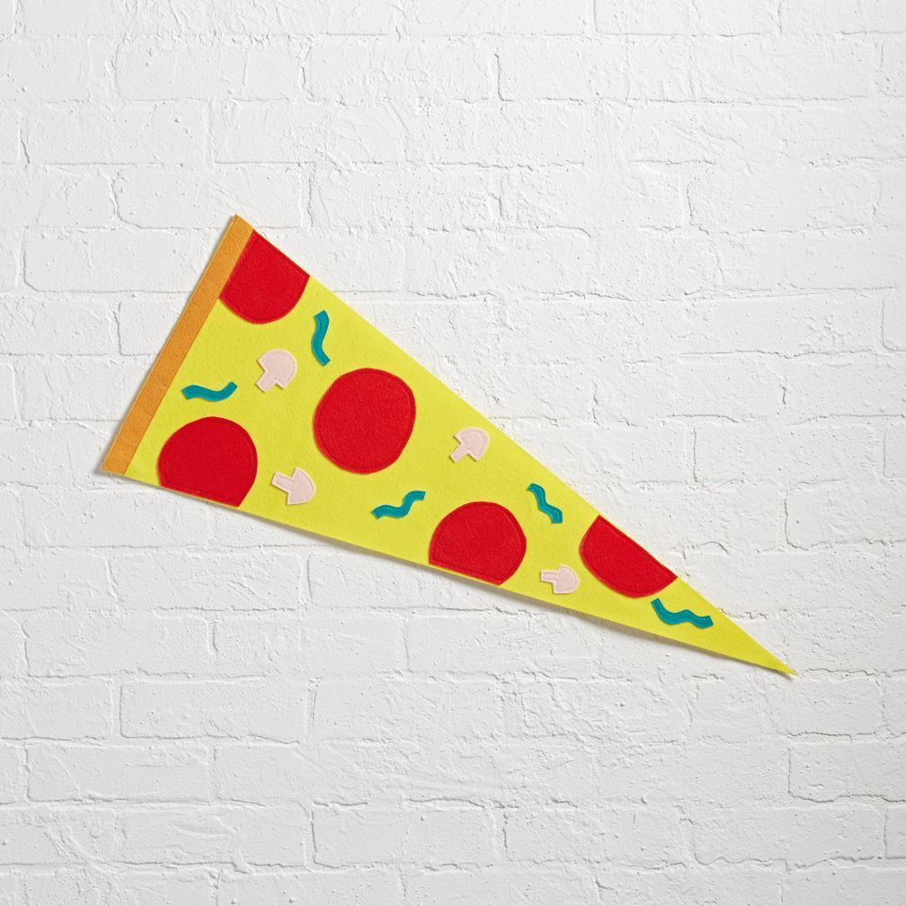 Pizza Team Spirit Pennant   The Land of Nod   Home: W.C.M.\'s Room ...