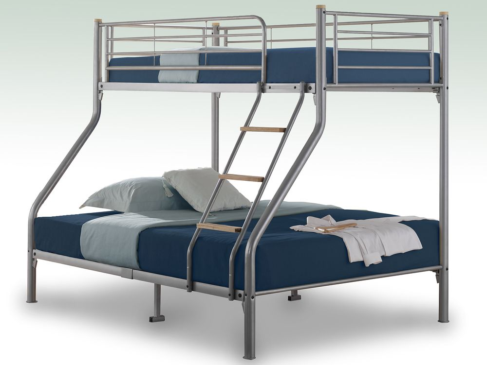 Birlea Nexus Silver Metal Triple Bunk Bed Frame Triple Bunk Beds