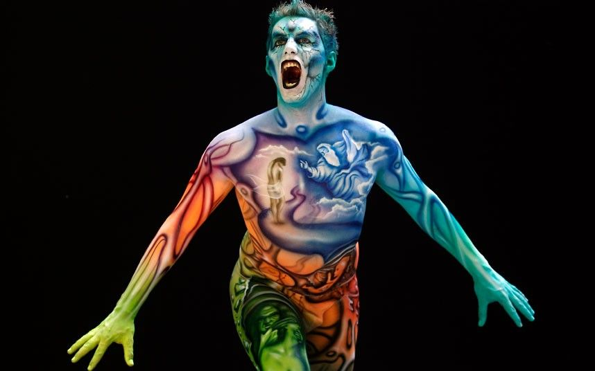 The 15th World Bodypainting Festival In Poertschach Austria Body Painting Festival World Bodypainting Festival Bodypainting