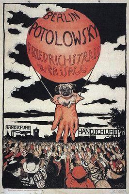 potolowsky VINTAGE AD POSTER emil orlik GERMANY 1897 24X36 collectors