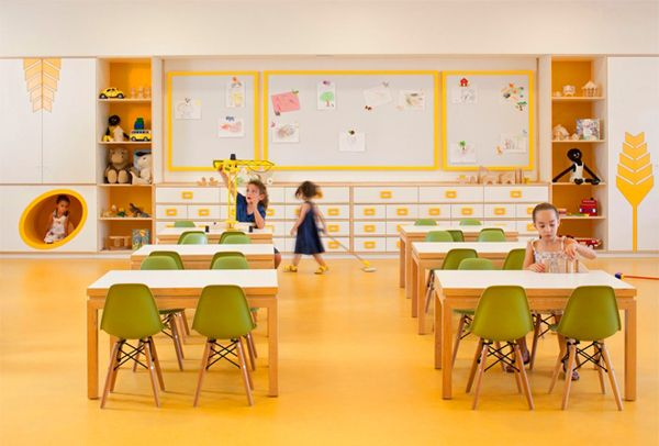 Elegant Class Room Idea For Kid Appled In Modern House Interior With Best  Cabinet Design Finished
