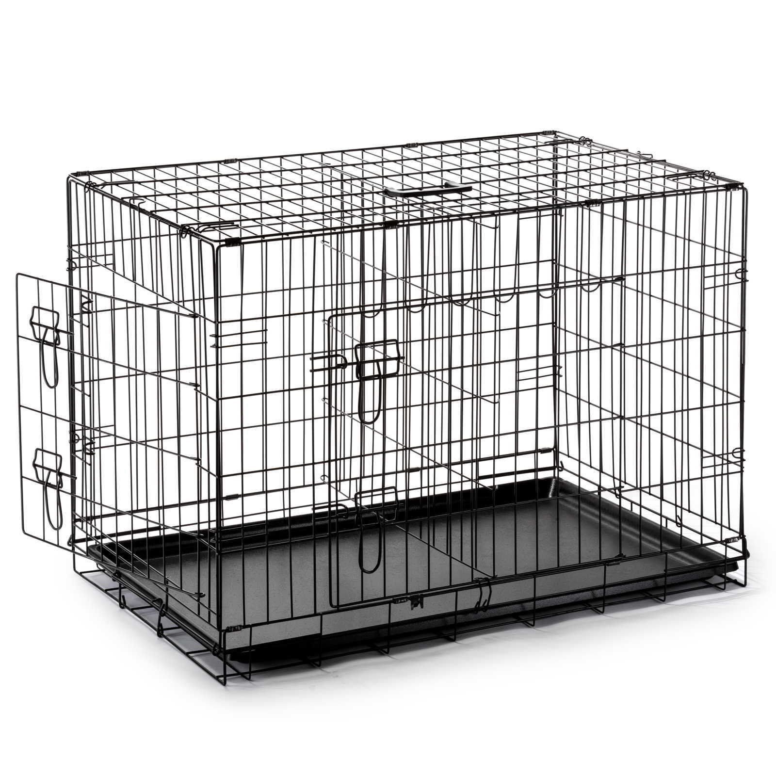 Smithbuilt 42 Extra Large Portable Dog Crate Cage With Divider Xl Folding Twodoor Metal Wire Pet And Animal Kennel Portable Dog Crate Large Dog Cage Dog Crate