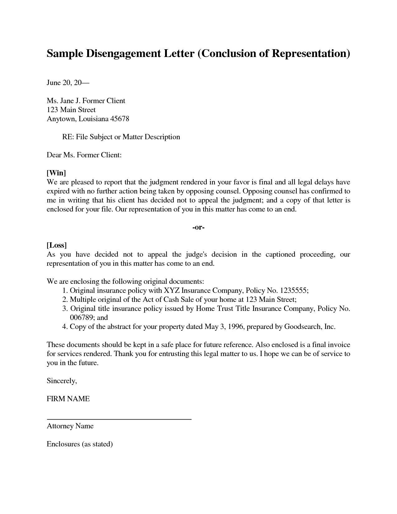 representation letters Sample Legal Representation Letter by mlp18219 - sample legal ...