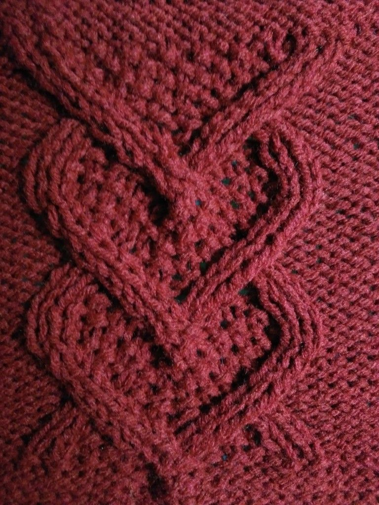 Knitted Afghan Pattern With Hearts
