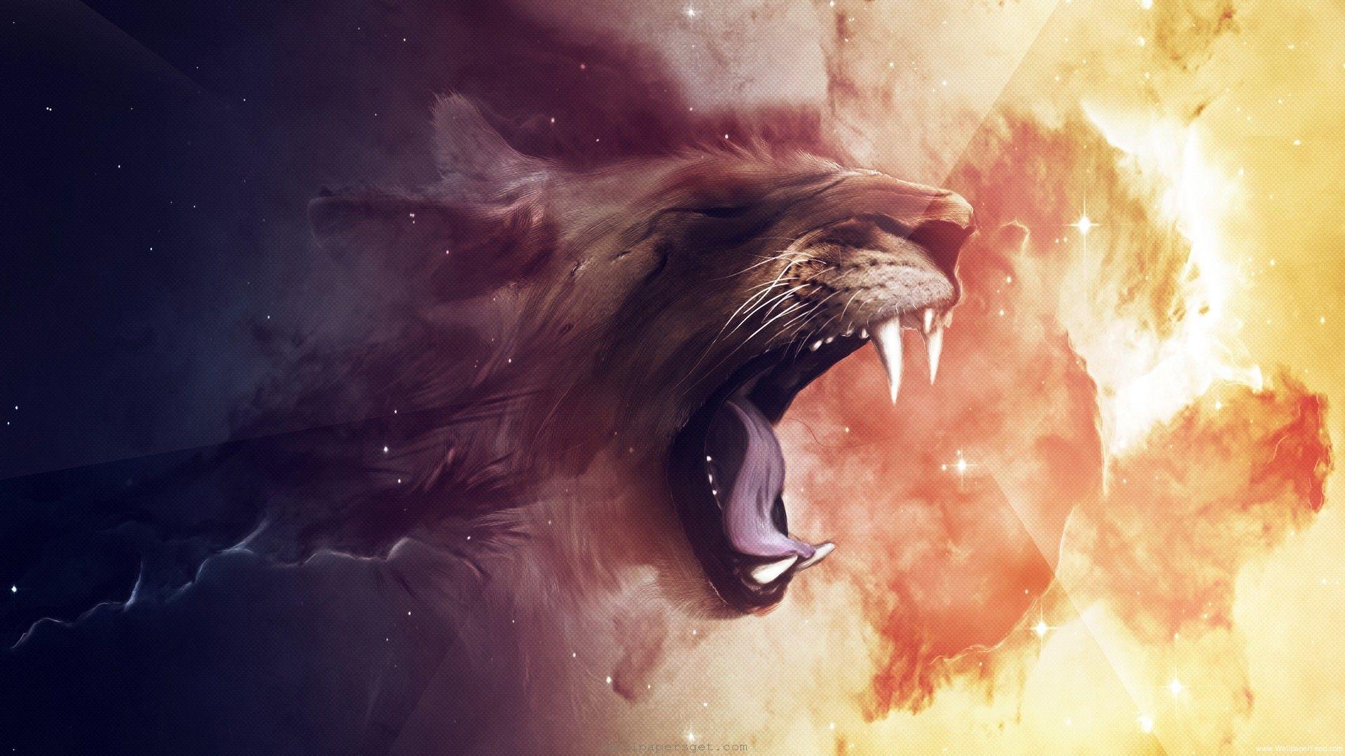 Free Wallpaper Lion Abstract Hd Lion Wallpaper Lion Art Lion
