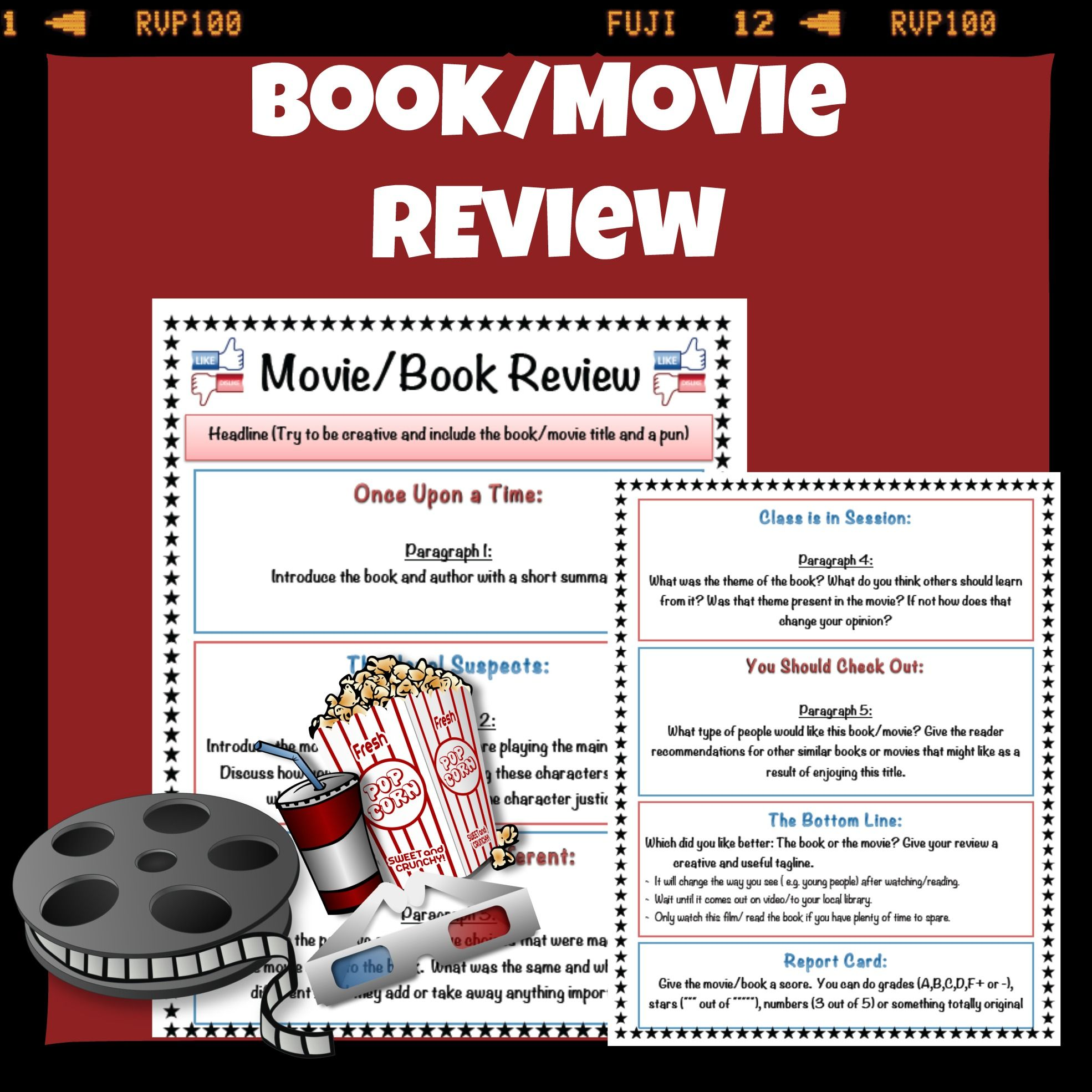 Book/Movie Review Template | *** Writing & ELA with TiePlay ...