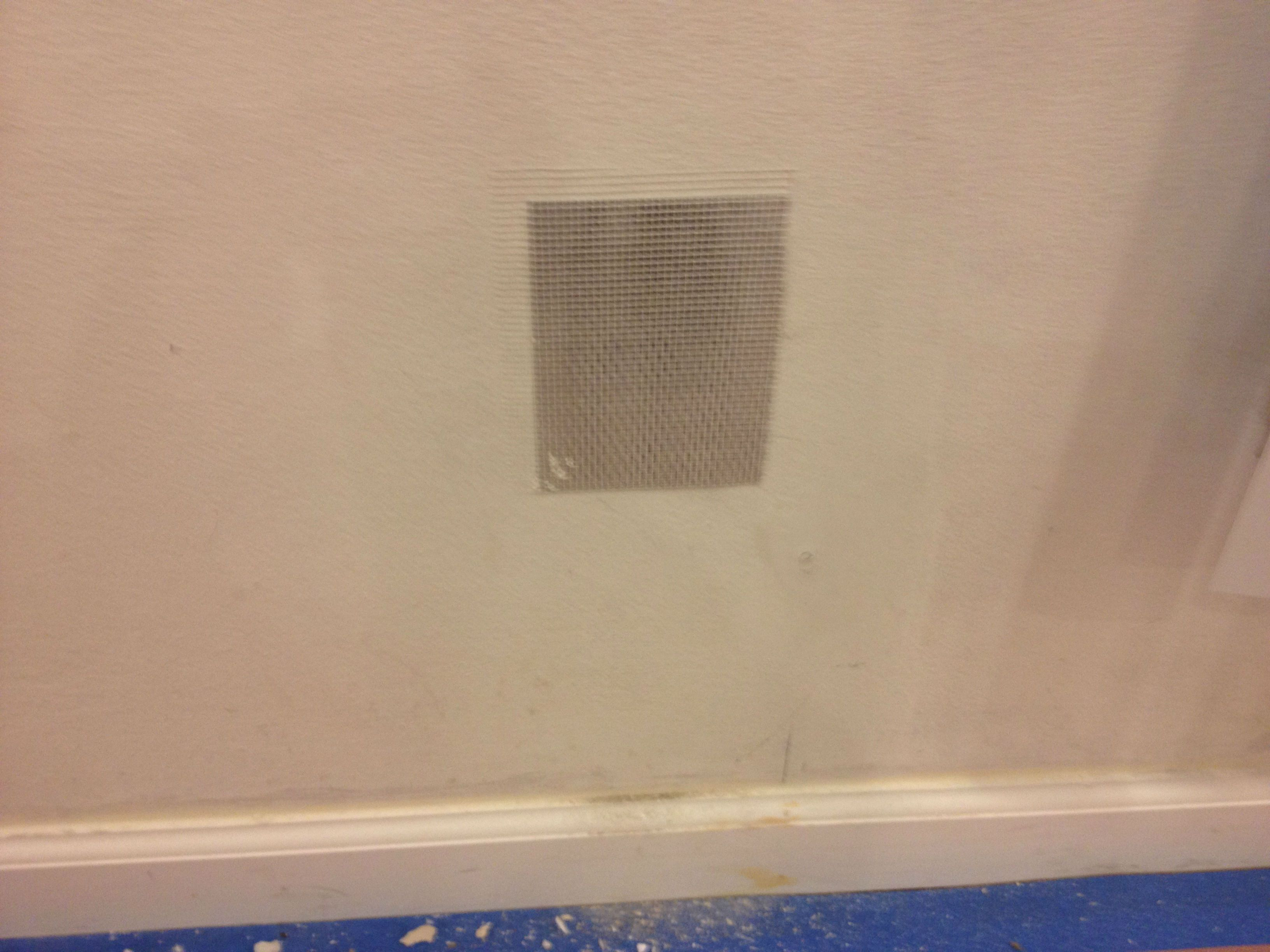 Installed A Simple Aluminum Drywall Patch To Cover An Old Cable Tv Outlet How To Patch Drywall Installation Cable Tv