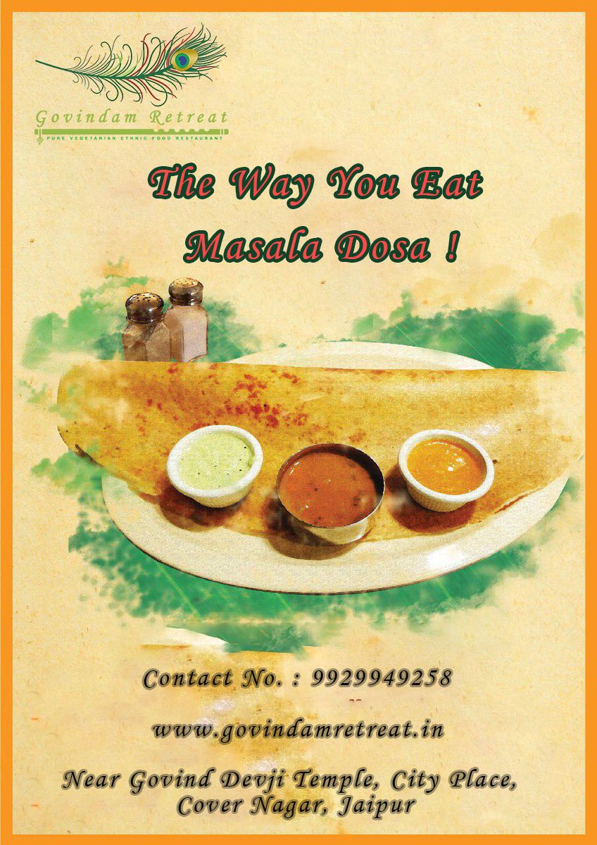 Masala Dosa Or Masale Dose Is A Variation Of The Popular South Indian Food Dosa Which Has Its Origins In Tulu Veg Restaurant Rajasthani Food South Indian Food