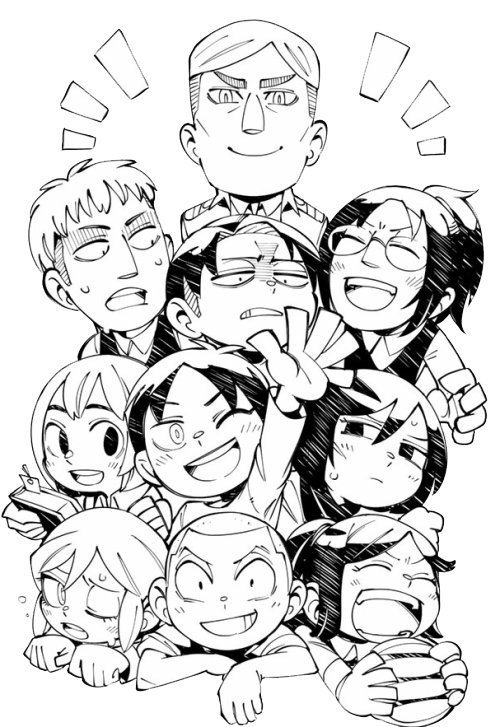 "gangsta-levi: ""a transparent spoof on titan squad for all of your transparent needs~ """
